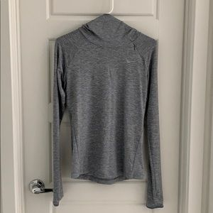 Nike Grey Long Sleeve Running Top- Size Small